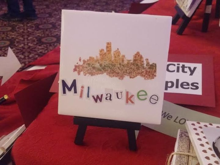 Tmx 1453846157101 Cut Letters And Colored Skyline On Easel New Berlin wedding favor