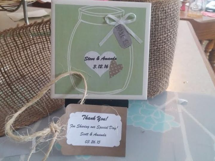 Tmx 1453846598960 Green With White Outline Real Ribbon And Tag New Berlin wedding favor