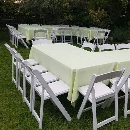 White Padded Chairs