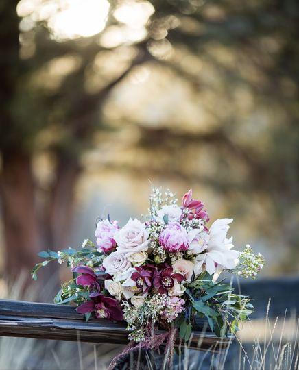 Elopement bouquet with orchids