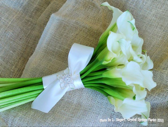 Elegant Bouquet - White calla lilies