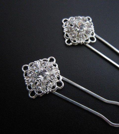 Swarovski Rhinestone Hair Pins