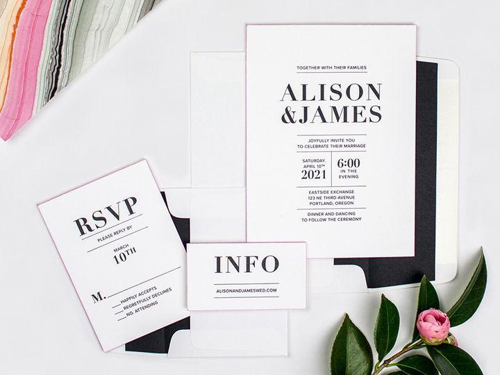 Tmx Alison Suite Web 51 162789 1569973147 Portland, OR wedding invitation