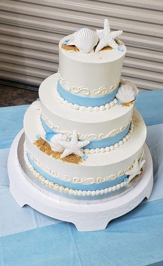 3-tier beach cake