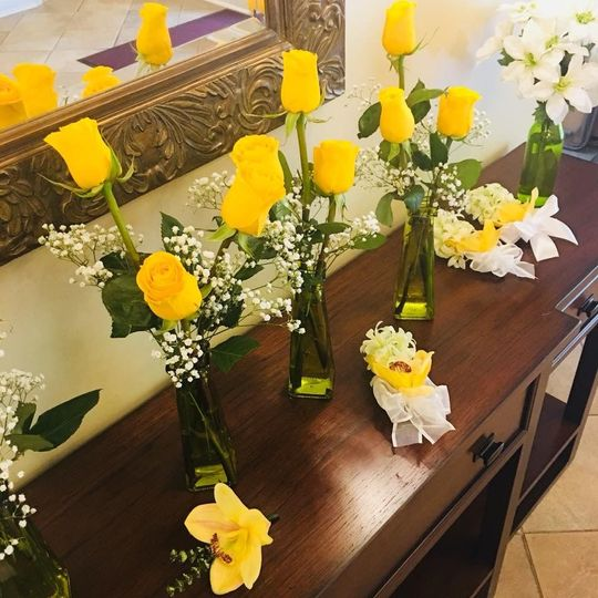 Yellow flower decor