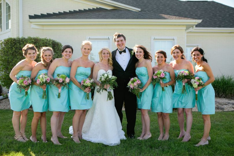The happy wedding party