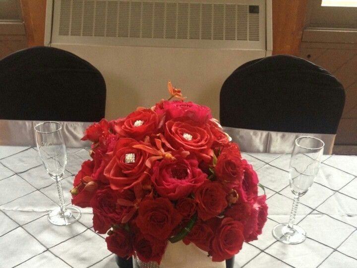 Tmx 1444342540343 Black Red And Bling Bouquet Muscatine wedding florist