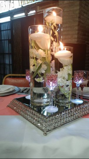 Decorated table centerpiece