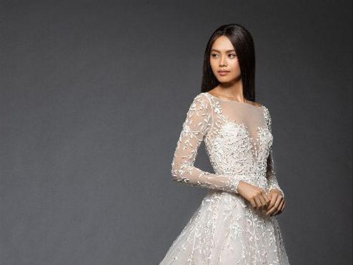 Tmx Lazaroisabellongsleevealinelacedress 51 935789 New York, NY wedding dress