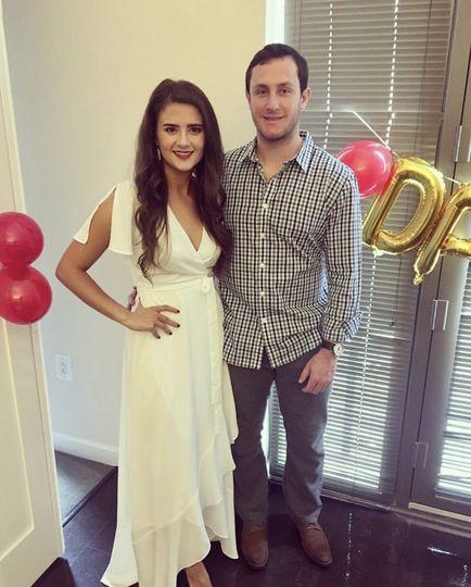 Wedding white and bridal bronze