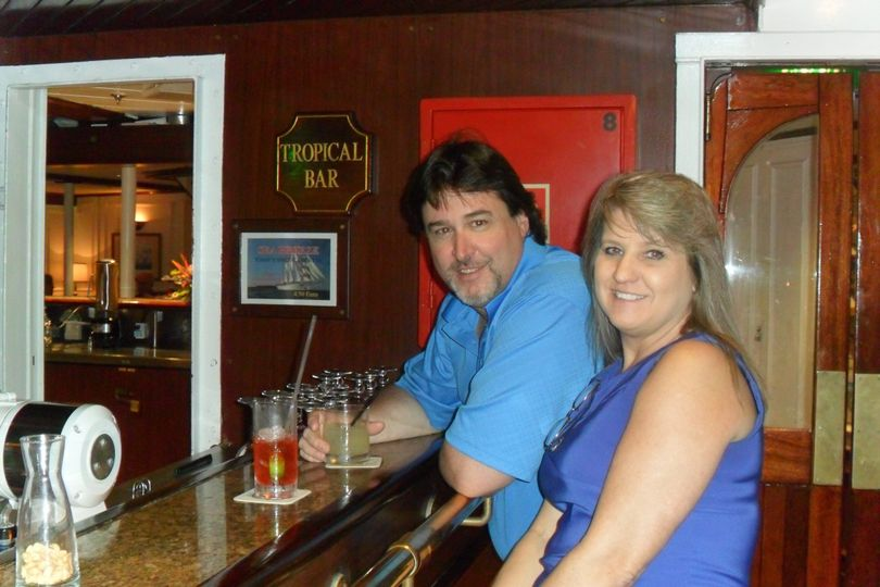 Aboard the Star Flyer.  Tall ship cruising in the Caribbean or Europe.  Small 85 cabin ship with...