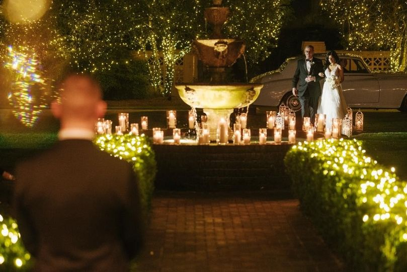 Candle-lit Outdoor Ceremony
