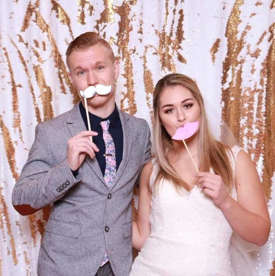 Cute newlyweds