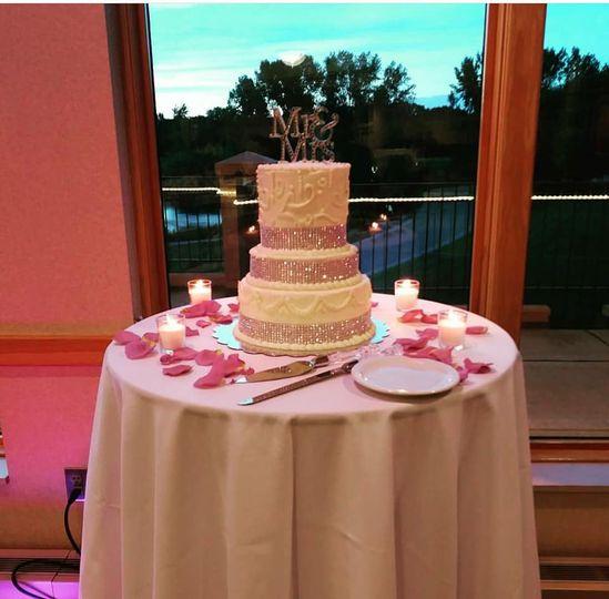 Tiered wedding cake (BC)