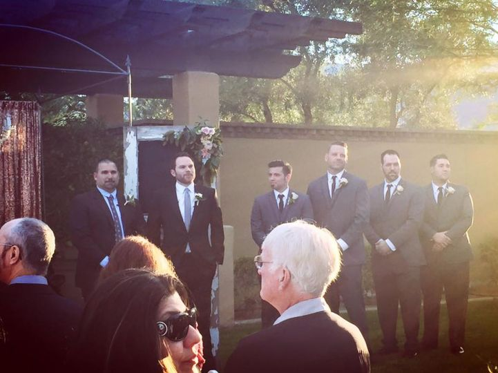 The groom's wedding party