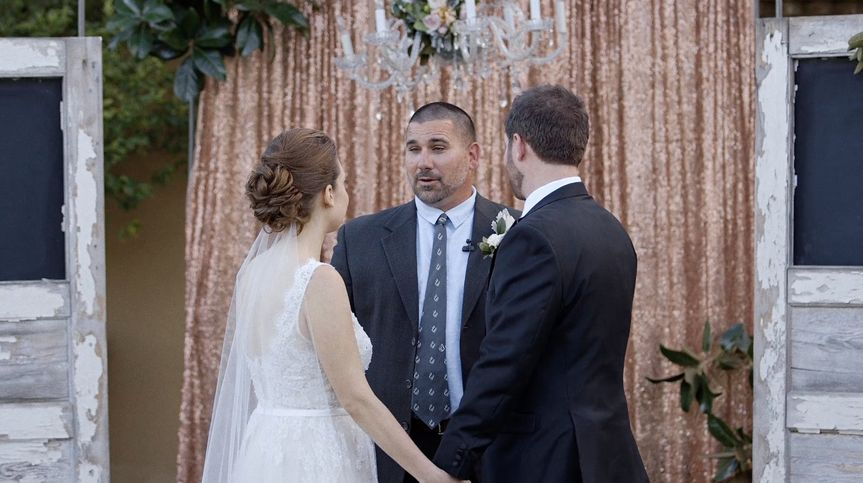 Officiant leading the ceremony