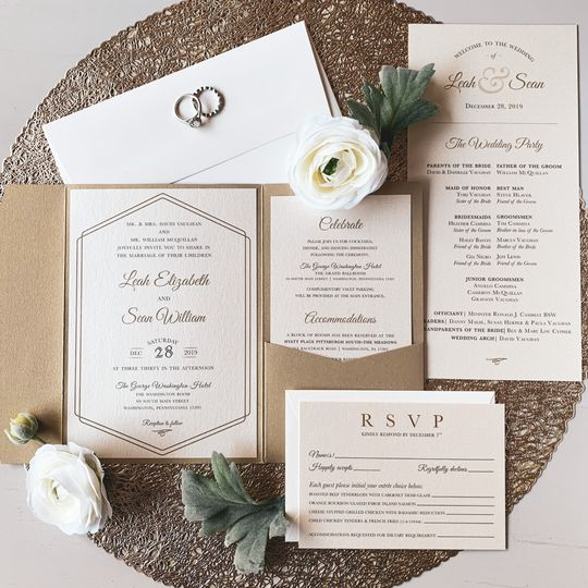 Elegant Gold Invitation
