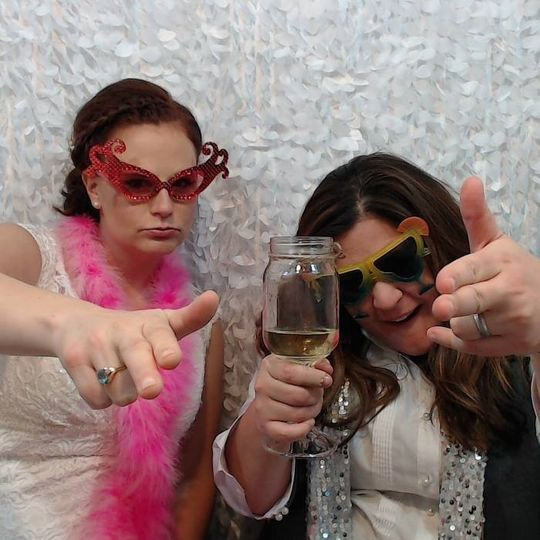 Brides LOVE the photo booth!