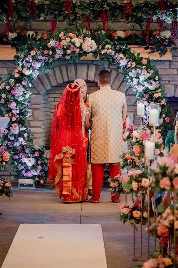 Indian wedding aisle