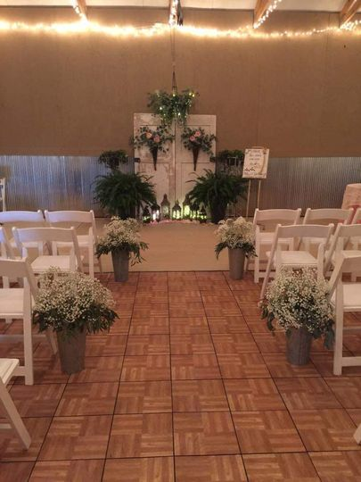 Intimate ceremony space