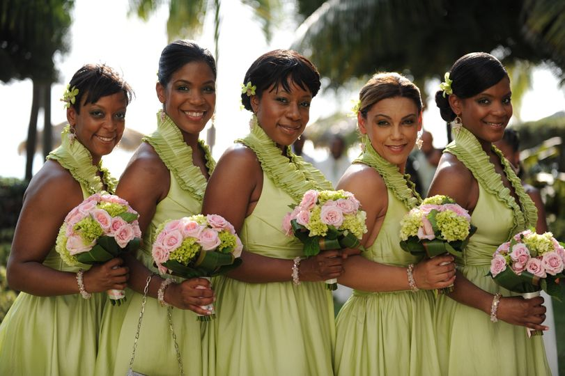 Cayman Islands Destination Wedding Hair designed by Jeannie for Bridesmaids and Bride