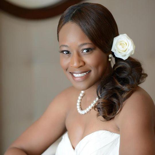 Cayman Islands Destination Wedding Hair designed by Jeannie for Bride
