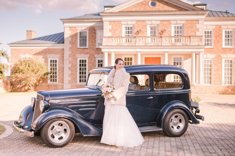 Bridal car - natural bliss photography