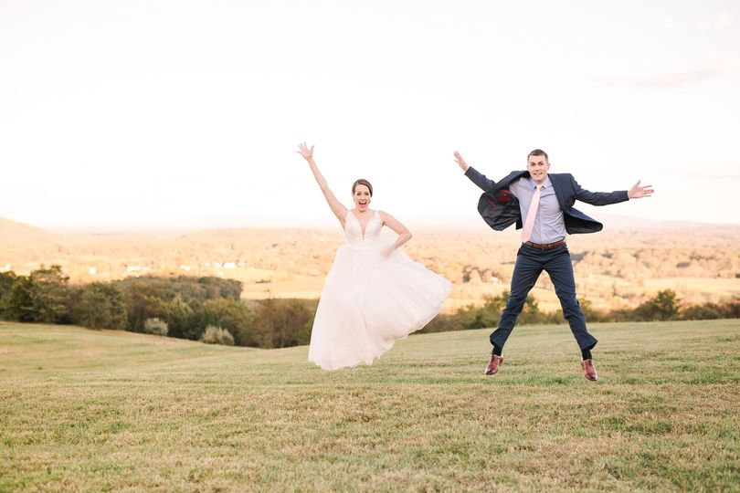Jump shot couple - natural bliss photography