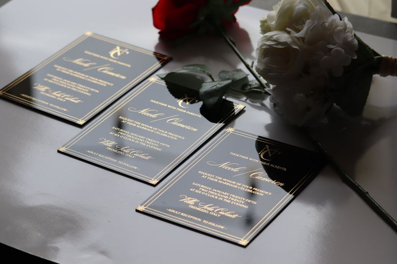 Black Acrylic Invites