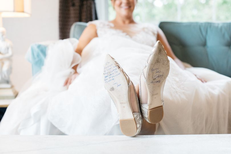 Note on brides' shoes