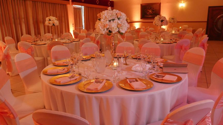 Table set in opulent style