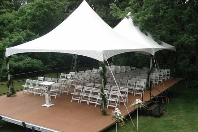 Covered ceremony space