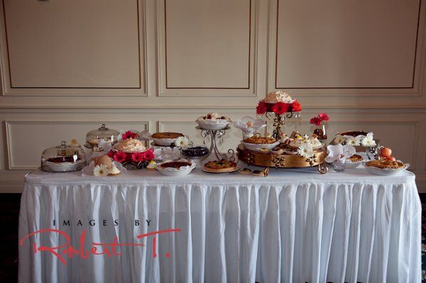 The Pie Bar!  From whipped creme pies, fruit tarts, meringue pies to fruit pies.