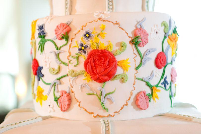 bright flowers cake 2