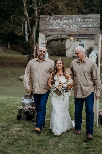 Dads with Bride