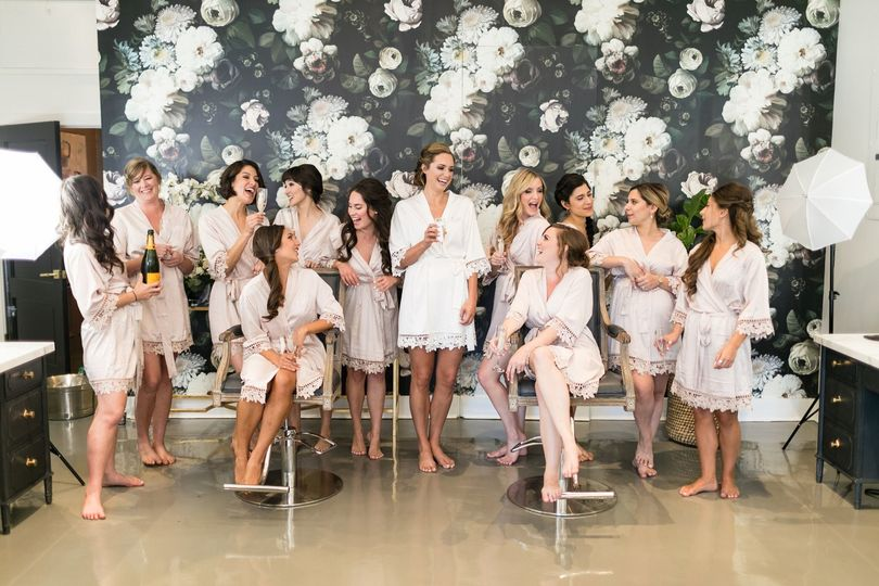 In-studio bridal party