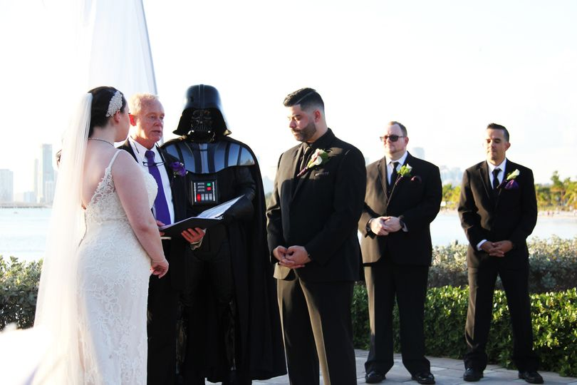 A Star Wars-themed ceremony