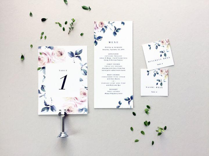 Blue and Blush Wedding