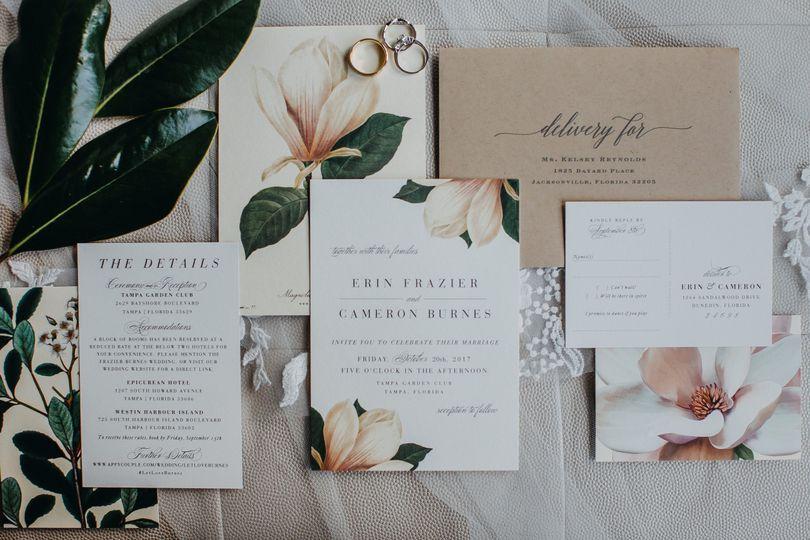 Magnolia Invitation