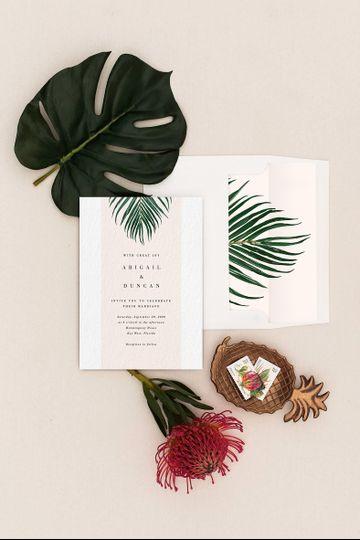 Mod Palm Destination Invite