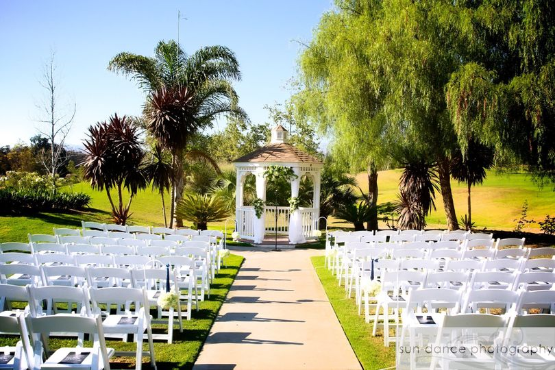 Charming outdoor ceremony site
