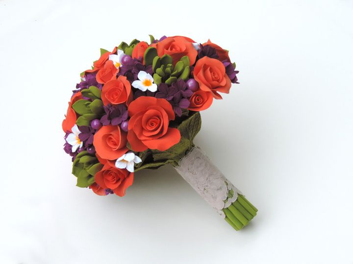 Orange bridal bouquet