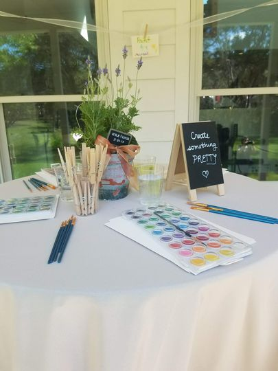 Watercolor station