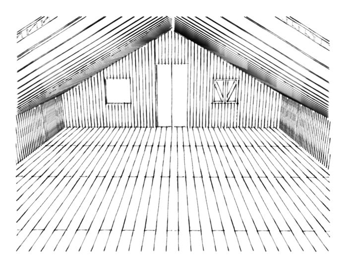 Barn upper loft view