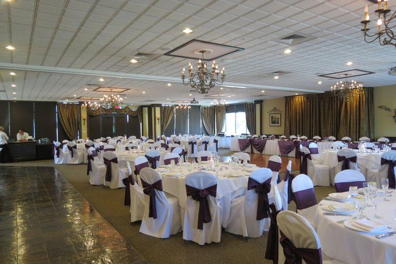 Wedding recetion area