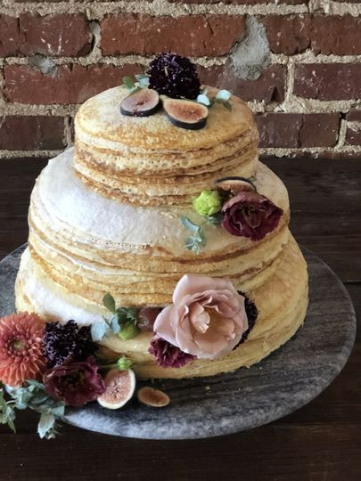 Fig crepe cake - Arika Shelest