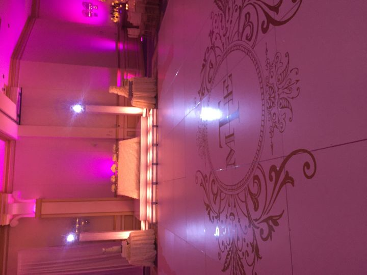 Tmx 1430162974127 White Dance Floor W Gold Decal West Babylon, New York wedding eventproduction