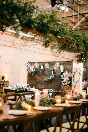 Backdrop Sweetheart Table
