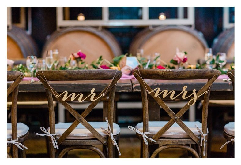 Sweethearts chairs | Cassie Valente Photography