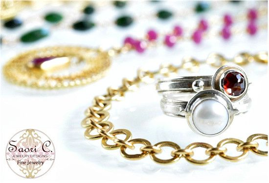Jewelry designer Saori C. creates delicate, feminine fine handcrafted jewelry and bridal jewelry...